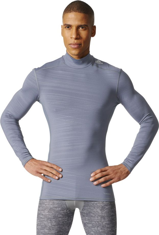 Adidas Koszulka meska Tech Fit Tee LS szary r. M (CD3779) CD3779