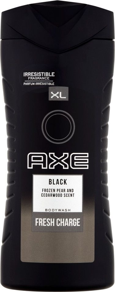 AXE Fresh Charge Body Wash Ax shower gel Black 400ml kosmētika ķermenim