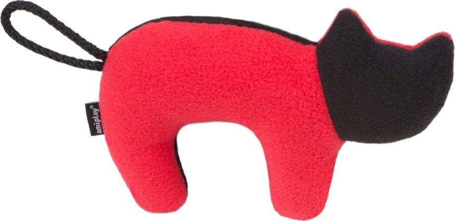 Ami Play Zabawka dla psa Kot Squeaky plush czerwono-czarny 5907563256729 piederumi kaķiem