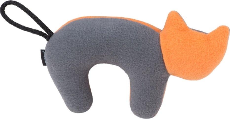 Ami Play Zabawka dla psa Kot Squeaky plush pomaranczowo-szary 5907563256743 piederumi kaķiem