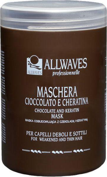 Allwaves ALLWAVES Maska czekoladowa z keratyna do wlosow 1000ml 1440599