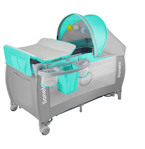 Tourist bed LO SVEN PLUS turquoise gray 50603