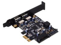 Kontroler SilverStone SST-EC04-E USB 3.0 PCIe + low profile SST-EC04-E karte