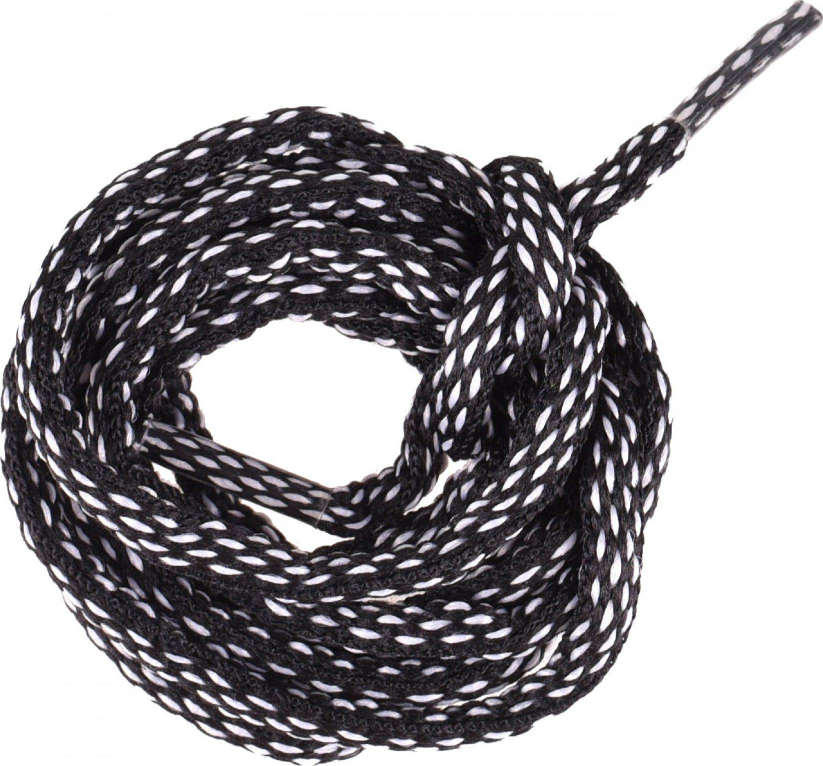 Elbrus Sznurowki Lace Discovery black/white 150 cm 5902786056149 Kopšanas līdzekļi apaviem