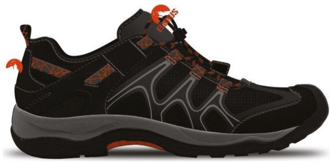 Elbrus Buty Niskie Calton Black/ Orange/ Mid Grey r. 46 4003798 Tūrisma apavi
