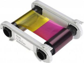 Evolis Colour ribbon, YMCKO for up to 200cards 200159, 534-371 3661572000477 uzlīmju printeris