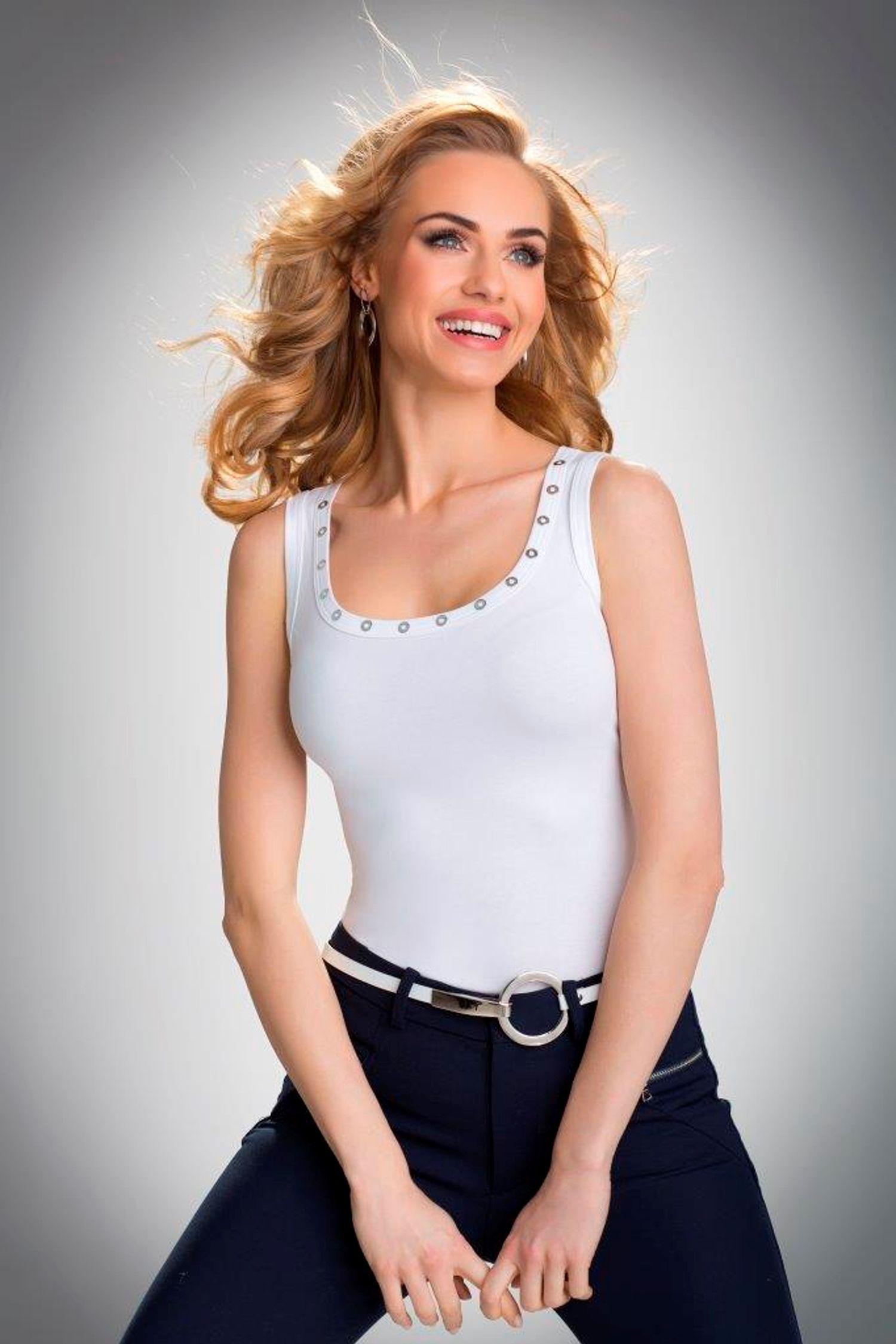 Eldar Koszulka Damska Kasandra Bialy r. M 5901490148805 Blūzes sievietēm