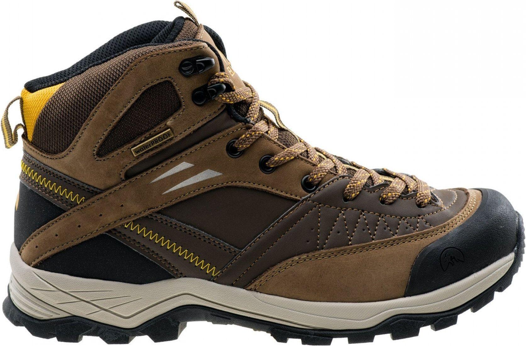 Elbrus Buty meskie Delen MID WP Dark Brown / Corn / Black r. 45 4823646 Tūrisma apavi