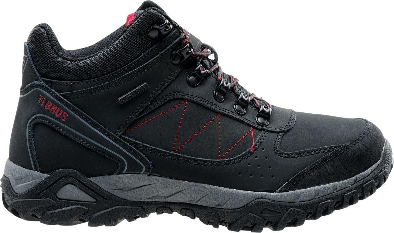 Elbrus Buty meskie Lasano Mid WP Black / Grey / Red r. 45 4823688 Tūrisma apavi