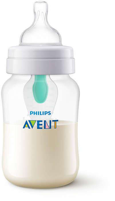 Philips Avent Pretkoliku pudelītes ar AirFree vārstu 260 ml, 1M+ SCF813/14 bērnu barošanas pudelīte
