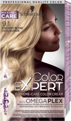 Schwarzkopf Color Expert Krem koloryzujacy do wlosow nr 9.1 Chlodny Blond 1op. 68061123