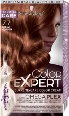 Schwarzkopf Color Expert Krem koloryzujacy do wlosow nr 7.7 Miedz 1op. 68059687