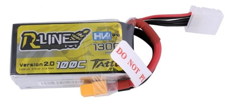 Gens Ace & TATTU Akumulator 1300mAh 15.2V 100C TATTU R-Line Gens Ace HV (TA-RL-100C-1300-4S1P-HV) Radiovadāmā rotaļlieta