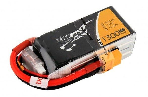 Gens Ace & TATTU 1300mAh 14.8V 75C TATTU Gens Ace (TA-75C-1300-4S1P) Radiovadāmā rotaļlieta