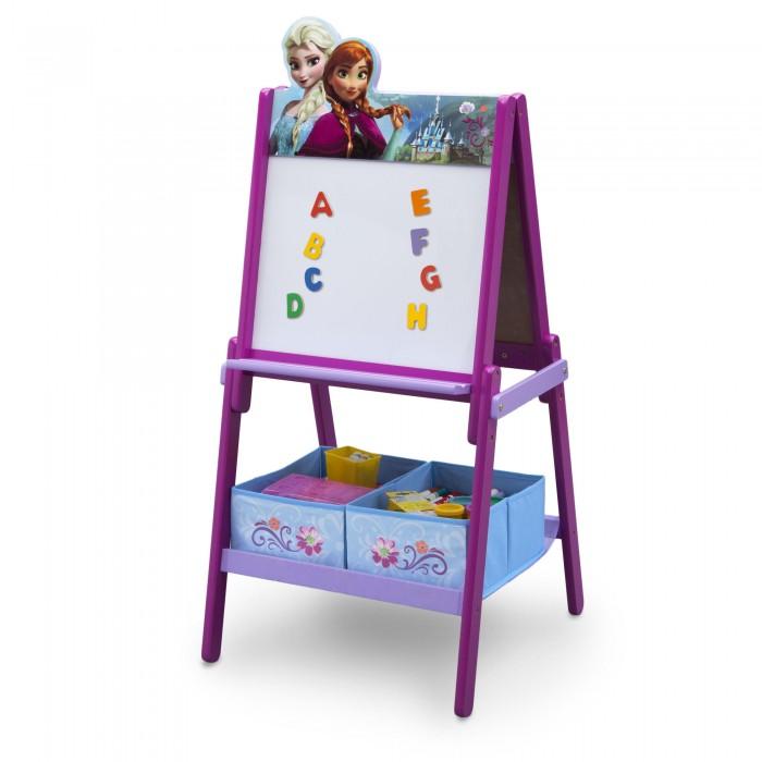 Delta Children Disney Frozen divpusēja koka tāfele ar auduma kastītēm un magnētiem TE87513FZ bērnu rotaļlieta