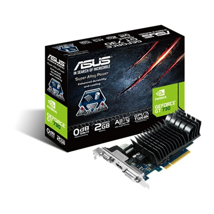 Asus NVIDIA GeForce GT 730 VGA PCIE16 GT730 2GB GDDR3 video karte