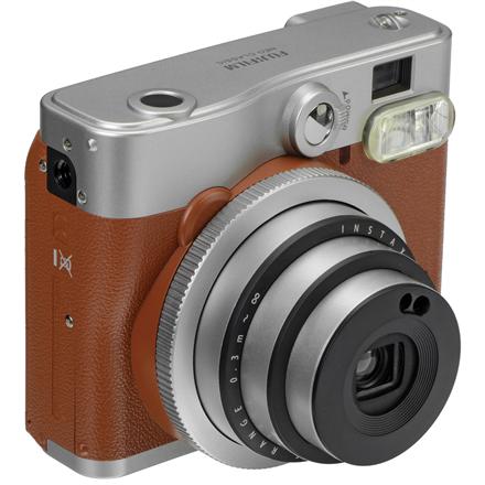 Fujifilm Instax Mini 90 Neo Classic Brown + Instax mini glossy (10) FUJI INSTAX 90 NC+10 BROWN Digitālā kamera
