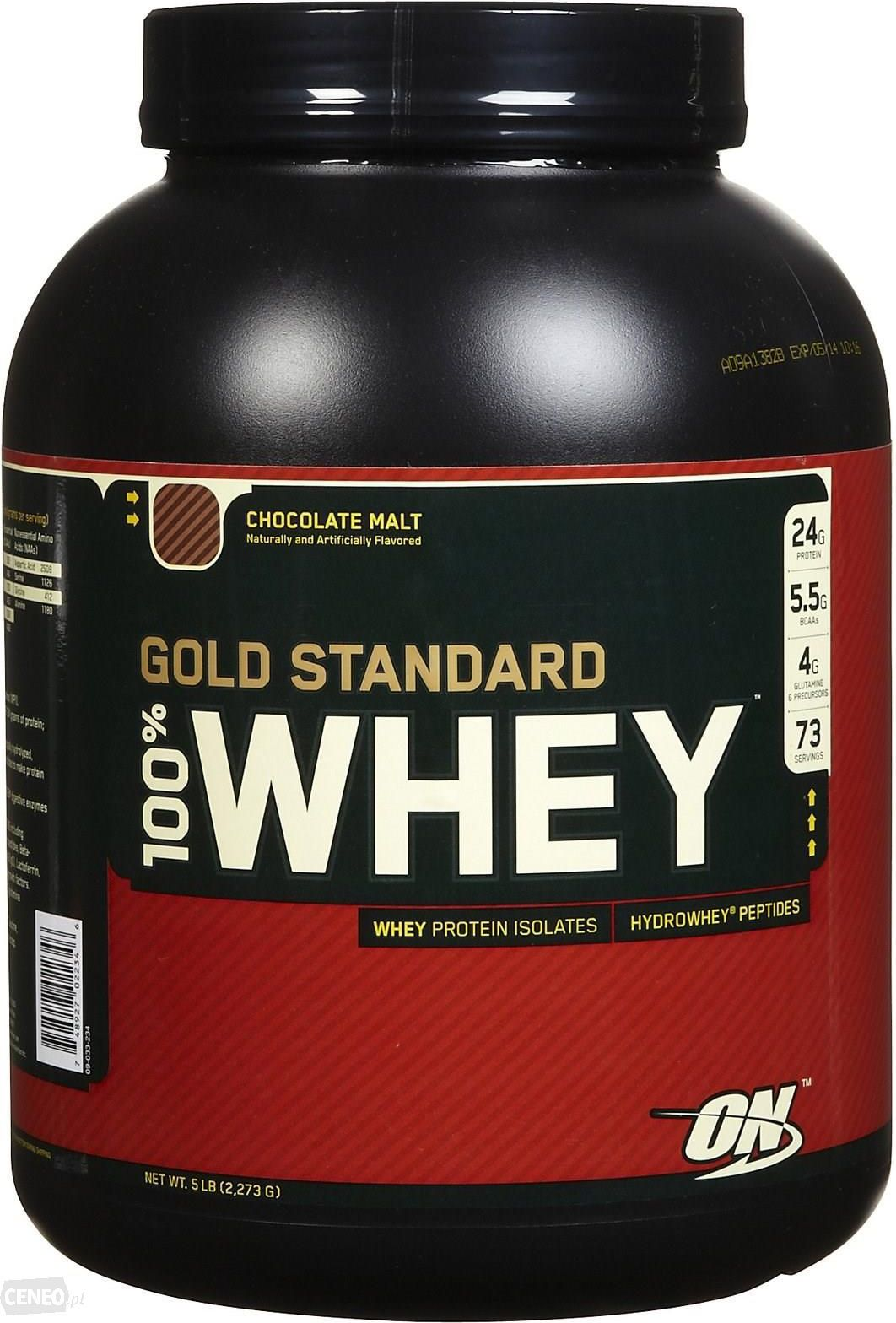 Optimum Nutrition 100% Whey 2.27kg Gold Standard Chocolate