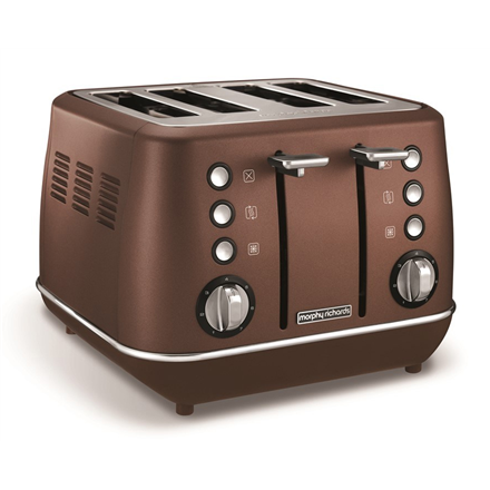 Morphy richards Toaster  240101 Bronze, Stainless steel, 1880 W, Number of slots 4, Number of power levels 7 Tosteris
