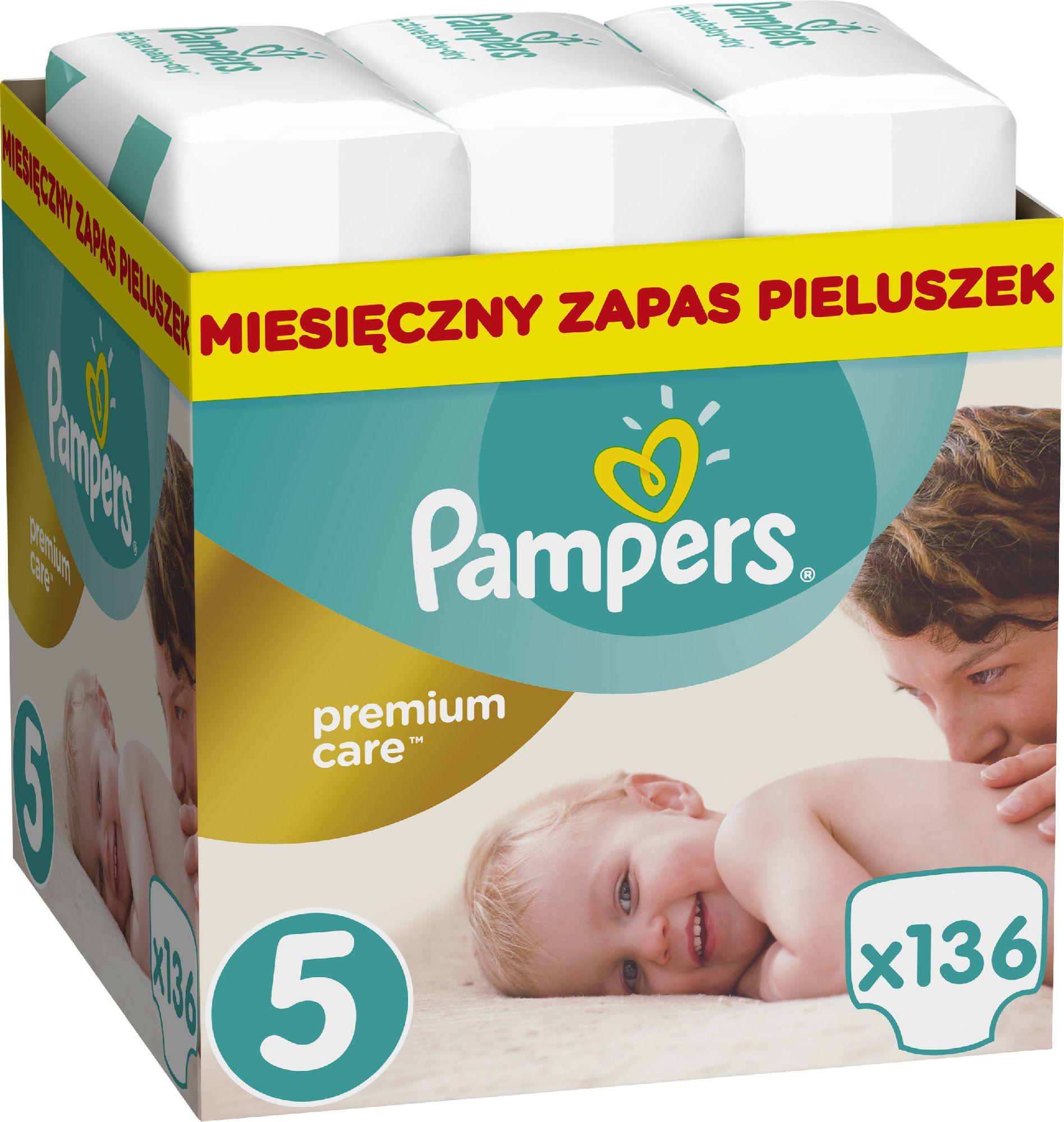 Pampers Premium Care Rozmiar 5 (Junior), 11-18kg, 136 Pieluszek 977207