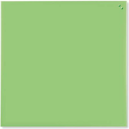 NAGA Magnetic glass board 45x45 cm light green