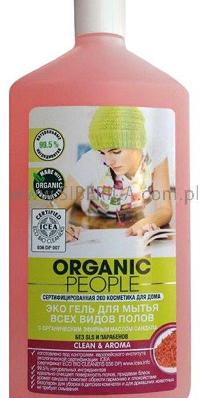 Organic People Zel do Mycia Wszystkich Rodzajow Podlog Z Organicznym Wyciagiem Drzewa Sandalowego, Organic People, 500ml tīrīšanas līdzeklis