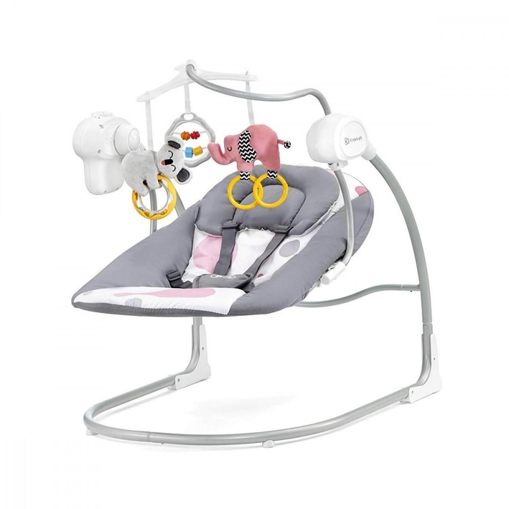 KinderKraft Kinderkraft MINKY pink šūpuļkrēsls