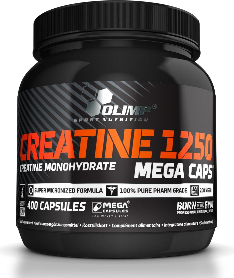 OLIMP Creatine 1250mg 400 Mega Caps Olimp size MP
