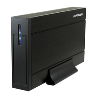 Geh 8.9cm (3,5)LC-POWER SATAIII>USB3.0 LC-35U3-Sirius(B) retail cietā diska korpuss