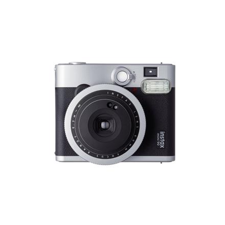Fujifilm Instax Mini 90 NEO CLASSIC camera + Instax mini glossy (10) Black/Stainless steel, 0.3m - ∞ 4547410260649 Digitālā kamera