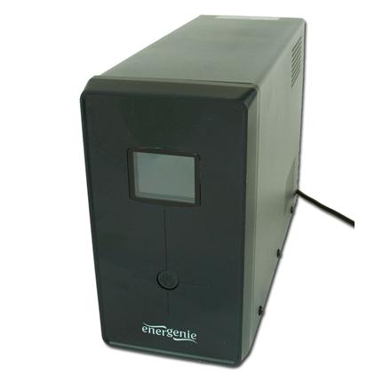 EnerGenie UPS with USB and LCD display, Black 1200 VA, 720 W EG-UPS-033 nepārtrauktas barošanas avots UPS