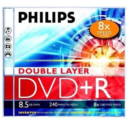 PHILIPS DVD+R DL 8.5GB JEWEL CASE matricas