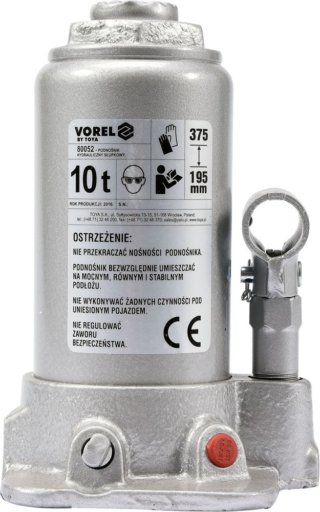 Vorel Podnosnik hydrauliczny slupkowy 10T (80052) 80052