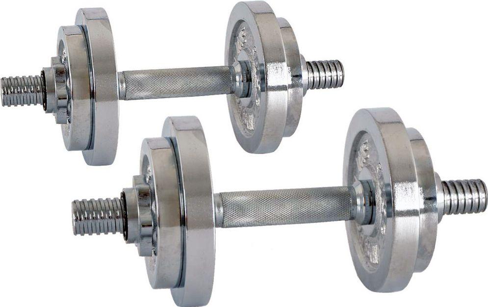 inSPORTline Zestaw hantli 2x 3-10 kg srebrne (5413) 5413 hanteles
