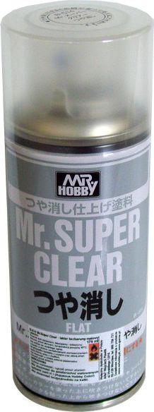 Mr.Hobby Mr. Super Clear Flat Spray - B514 materiāli konstruktoriem