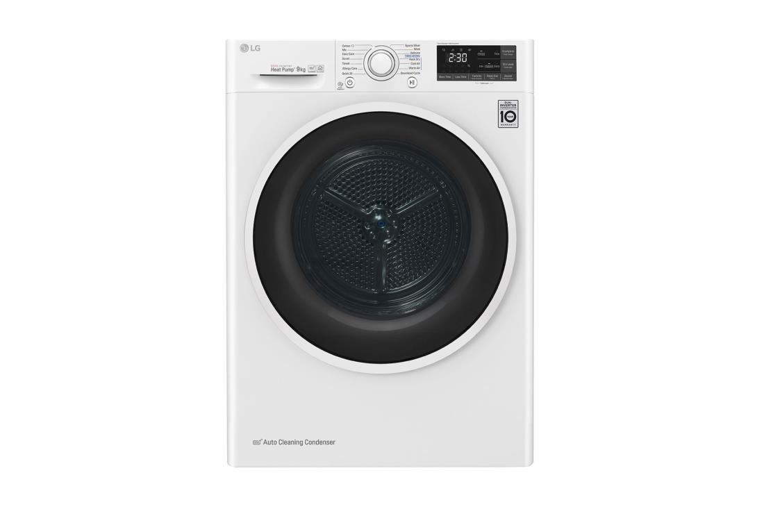 Dryer for clothes LG RC90U2AV4W (9 kg; 640 mm) RC90U2AV4W Veļas žāvētājs