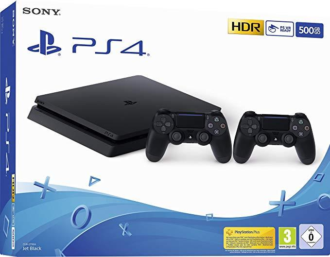 Sony Playstation 4 Slim 500GB (PS4) Black + extra Dualshock Controllers spēļu konsole