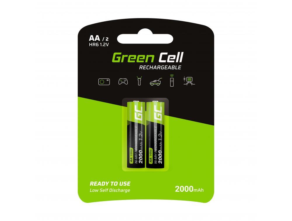 Green Cell Akumulator 2x AA HR6 2000mAh Baterija