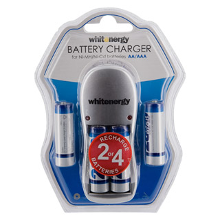 Whitenergy battery charger 4xAA/AAA + 4xAA/R6 2800mAh - blister