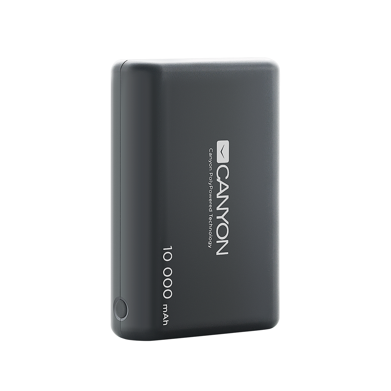 CANYON Power bank 10000mAh built-in 955570 Li-poly battery, Input 5V/2.1A, Output 5V/2.1A(Max), with Smart IC, Black, 3in1 USB cable length Powerbank, mobilā uzlādes iekārta