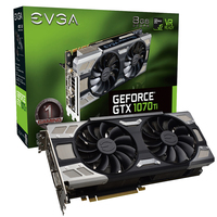 EVGA GeForce GTX 1070 Ti FTW Ultra Silent 8GB video karte