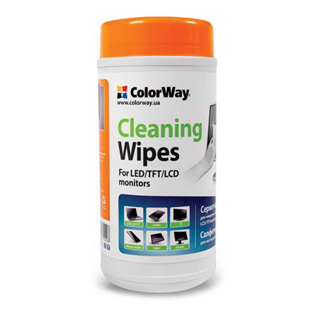 ColorWay Cleaning Wipes for LCD and TFT Screens 100 pcs - CW-1071 tīrīšanas līdzeklis