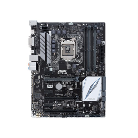 ASUS Z170-E, Z170, DualDDR4-2133, SATAe, SATA3, M.2, HDMI, DVI, ATX pamatplate, mātesplate