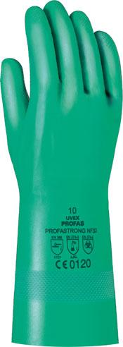 UVEX Nitrila Aizsargcimdi Profastrong, NF33, 038mm biezums, 33 cm gari, Izmers 10 UV6012204 darba apavi