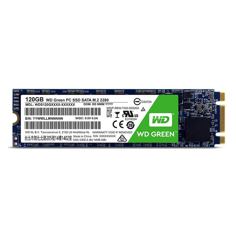 Western Digital Green M.2 SSD, SATA 6G - 120 GB SSD disks