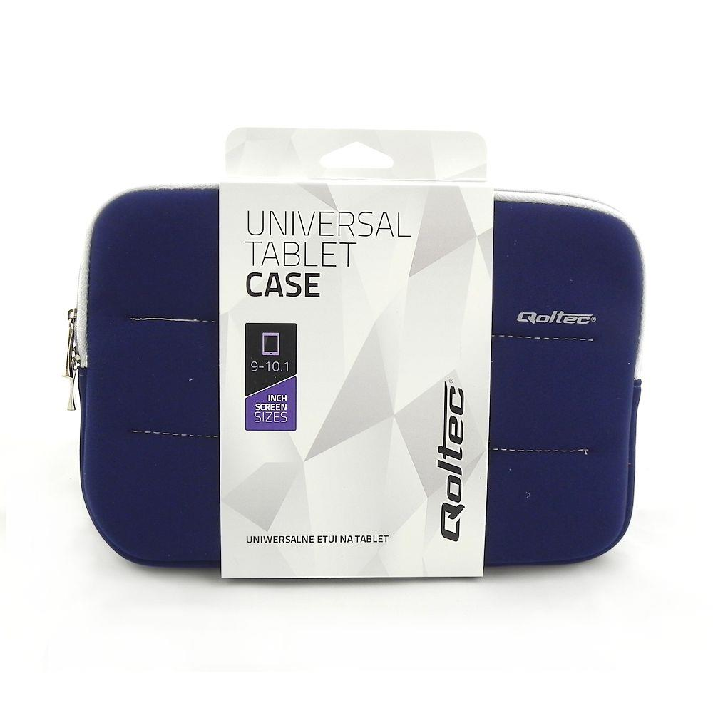 Qoltec Tablet Case High Effective Protection for Tablet 9-10.1'', navy blue soma foto, video aksesuāriem