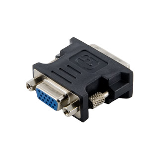 4W adapter DVI-I M(24+5) >VGA F black adapteris
