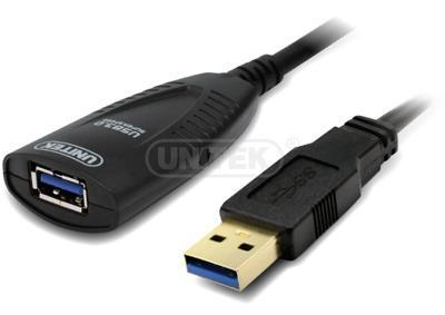 Unitek Cable USB 3.0 Active Extension, 5m, Y-3015 kabelis, vads