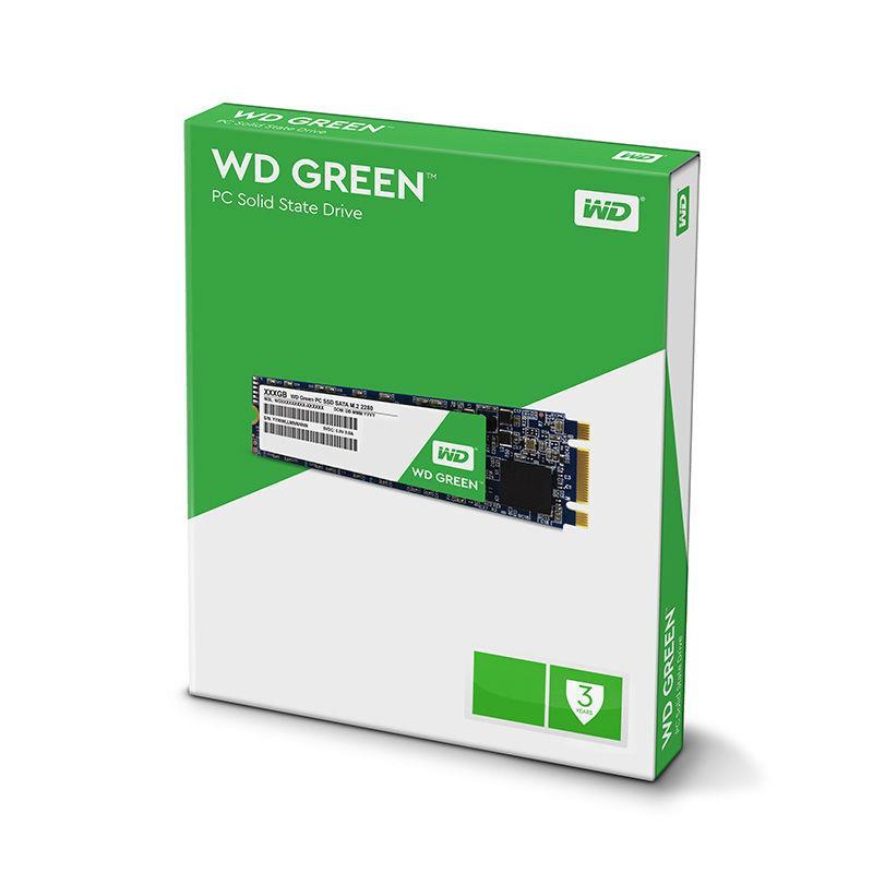 WD SSD 240GB M.2 WD Green SATA3 R/W:540/465 MB/s 3D NAND SSD disks