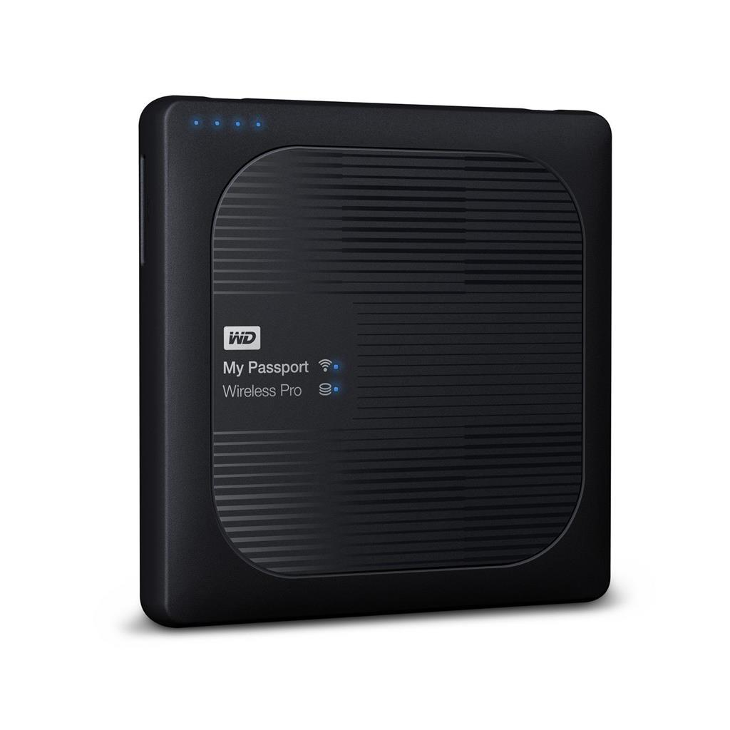 WD My Passport Wireless Pro, 2.5'', 4TB, WiFi, black Ārējais cietais disks